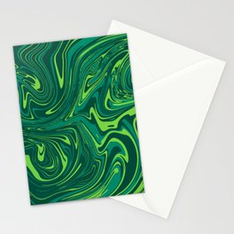 Toxic green mable Stationery Cards