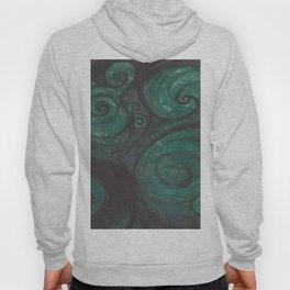 Swirl (black and green) Hoody