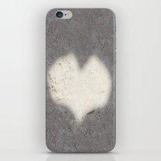 heart on sand iPhone & iPod Skin
