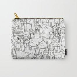Russian cathedral church line drawing Carry-All Pouch