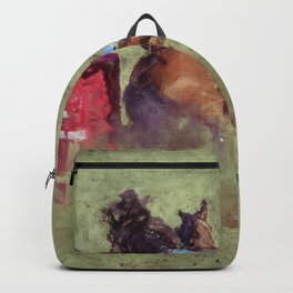 The Barrel Racer - Rodeo Horse and Rider Backpack