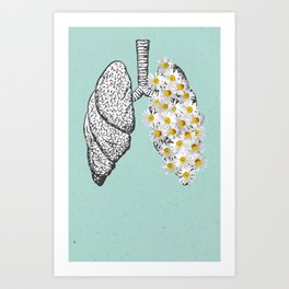 Setting Fire To Our Lungs Art Print