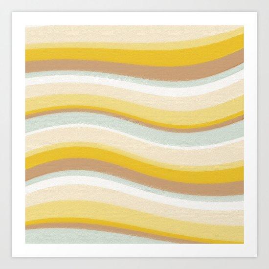 DESERT WAVES Art Print