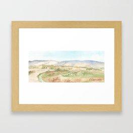 The Golan Heights - WC150615-12b Framed Art Print