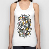 kandinsky Tank Tops featuring Geometric Abstract Watercolor Ink by Ashley Grebe