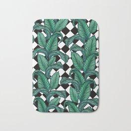 Tropical Checker Board Bath Mat