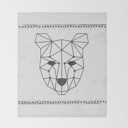 Totem Festival 2015 - Black & White Throw Blanket