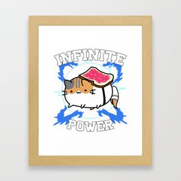 The Buttered Cat Paradox Framed Art Print
