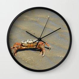 Beach Crab Wall Clock