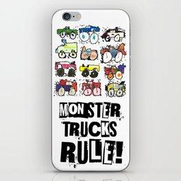 Monster Truck Kid Art by Tucker iPhone Skin