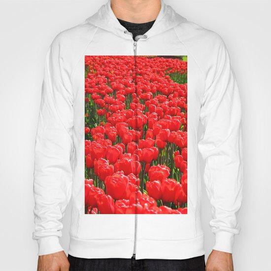 Red tulips Hoody