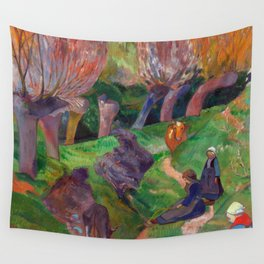 1889 - Gauguin - Brittany Landscape with cows Wall Tapestry