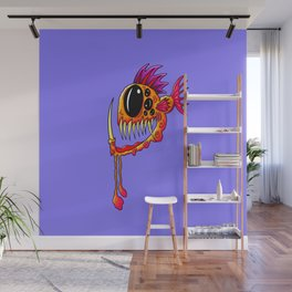 Creatures from the deep dark sea - Groovy Fang Angler Fish Wall Mural