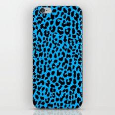 Neon Blue Leopard iPhone & iPod Skin