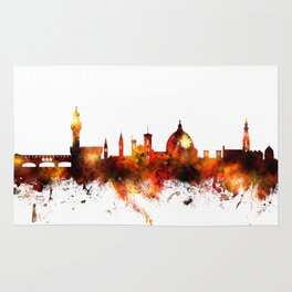 Florence Italy Skyline Rug