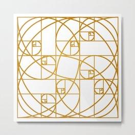 Golden Ropes Metal Print