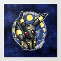 umbreon Canvas Prints featuring 197 - Umbreon by Lyxy