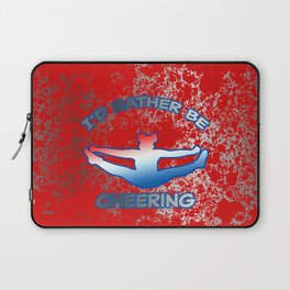 I'd Rather Be Cheering-on Red with Silver Flakes Design Laptop Sleeve