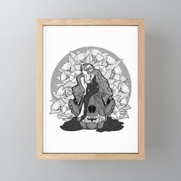 The Lamb and The Wolf Illustration Framed Mini Art Print