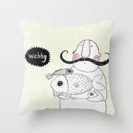 Mr. Wichtig Throw Pillow