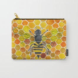 Bee & Honeycomb Carry-All Pouch