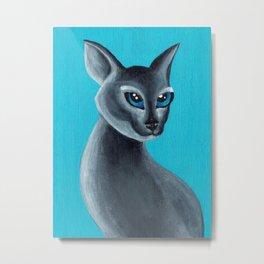 Big Blue Eyes Metal Print
