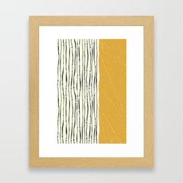 Gold Zebra Stripes Framed Art Print