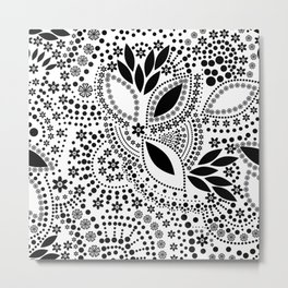 Black and white polka dot pattern . Metal Print