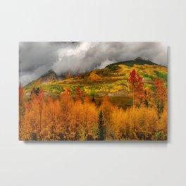 Autumn Scene at Crested Butte, Colorado Metal Print