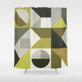 Modern Geometric 72A Shower Curtain