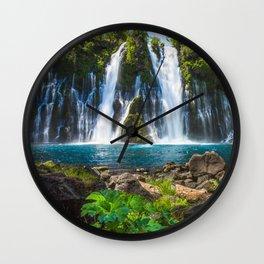 Burney Falls Delight Wall Clock