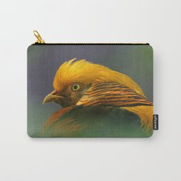 Emerging from the Green: Golden-Red Pheasant Carry-All Pouch