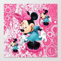 minnie mouse Canvas Prints featuring Minnie Mouse Cartoon by Maxvision