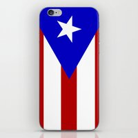 puerto rico iPhone & iPod Skins featuring puerto rico country flag star by tony tudor