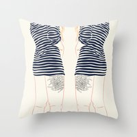 stripes Throw Pillows featuring Stripes by Elly Liyana