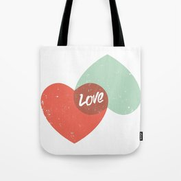 Two lovely hearts Tote Bag