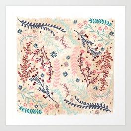 Chinese Flowery Fields Art Print