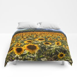 Sunflower Fields Of Dreams Comforters