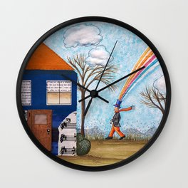 Happy Little House Wall Clock