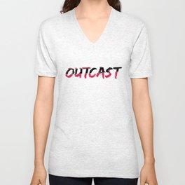 Outcast Typo Unisex V-Neck
