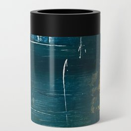 Rain [3]: a minimal, abstract mixed-media piece in blues, white, and gold by Alyssa Hamilton Art Can Cooler