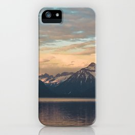 golden hour at lake mcdonald iPhone Case