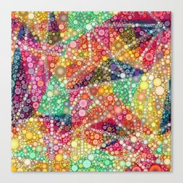 Acid Chemtrail Bubbles Canvas Print