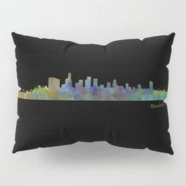 Dark Beverly Hills Skyline Pillow Sham