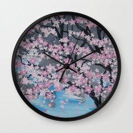 Japanese style sakura Wall Clock