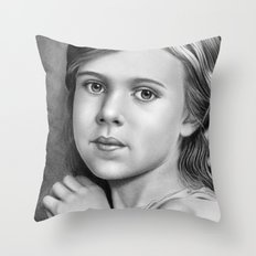 Child Portrait 01 Throw Pillow