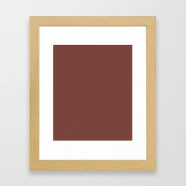Bole - solid color Framed Art Print