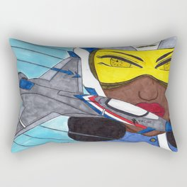 Lady Racer Rectangular Pillow
