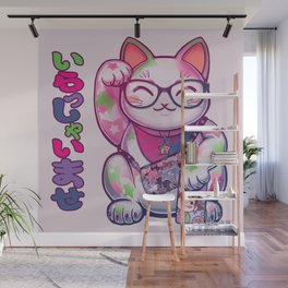 Maneki Neko Cotton Wall Mural