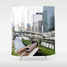 Ochanomizu Trains Shower Curtain